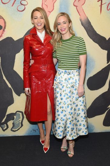 Blake Lively with Emily Blunt