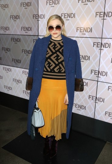 Chloe Grace Moretz in Fendi Pre-Fall 2018-1