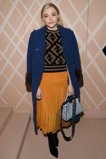 Chloe Grace Moretz in Fendi Pre-Fall 2018-2