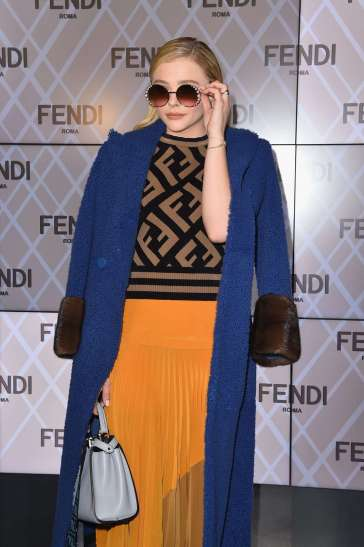 Chloe Grace Moretz in Fendi Pre-Fall 2018-4