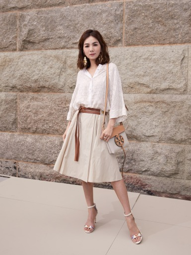 Ella Chen in Tory Burch Spring 2018