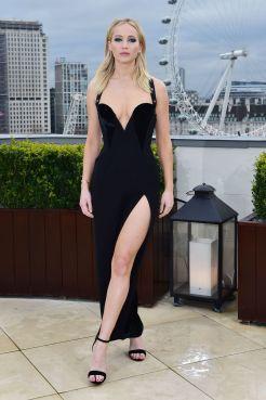 Jennifer Lawrence in Versace Pre-Fall 2018-2