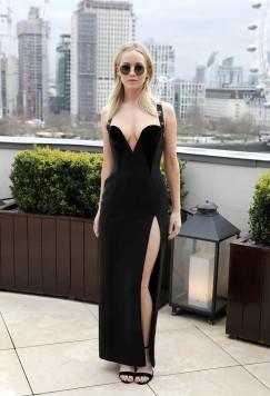 Jennifer Lawrence in Versace Pre-Fall 2018