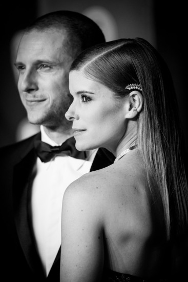 Kate Mara in Dior Fall 2017 Couture with Jamie Bell-1