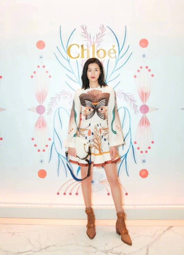 Liu Wen in Chloe Spring 2018
