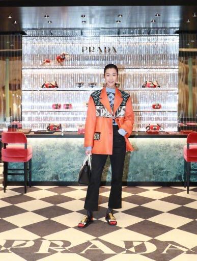 Liu Wen in Prada Spring 2018