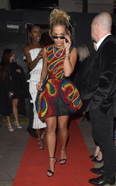 Rita Ora in Dice Kayek Fall 2015 Couture