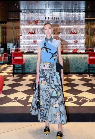 Shupei Qin in Prada Spring 2018-1