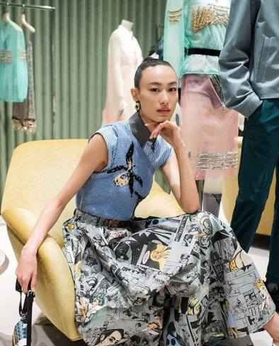 Shupei Qin in Prada Spring 2018-2