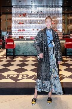 Shupei Qin in Prada Spring 2018