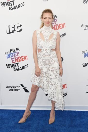 Amanda Seyfried in Alexander McQueen Fall 2017
