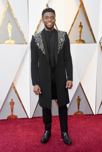 Chadwick Boseman in Givenchy Spring 2018 Couture
