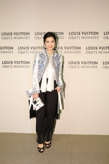 Cherie Zhong in Louis Vuitton Spring 2018
