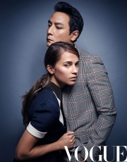 Daniel Wu & Alicia Vikander for Vogue China April 2018-1