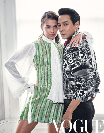 Daniel Wu & Alicia Vikander for Vogue China April 2018-9