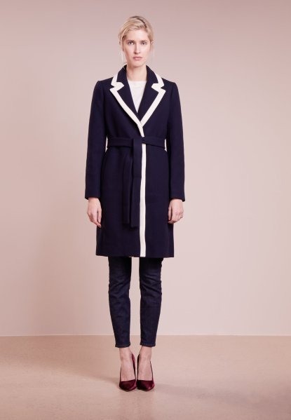 J.Crew. Two-tone wool-blend coat