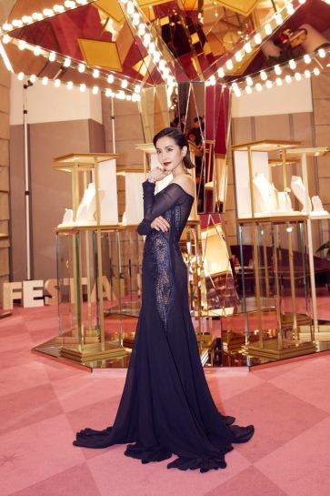 Jolin Tsai in Roberto Cavalli Spring 2018-5
