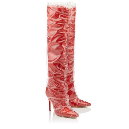 Off-White Jimmy Choo red boots
