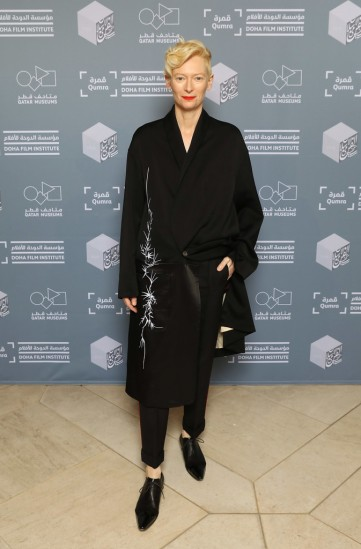 Tilda Swinton in Haider Ackermann Fall 2018 Menswear