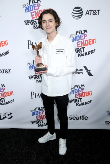 Timothee Chalamet in Off-White