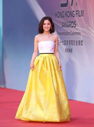 Charlene Choi in Alex Perry Spring 2018