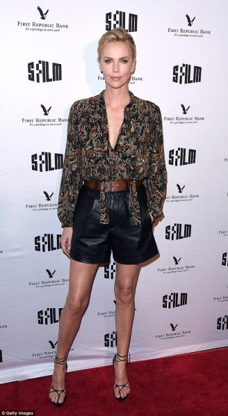 Charlize Theron in Saint Laurent Spring 2018