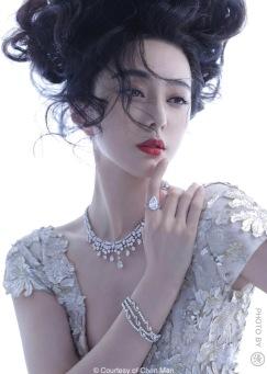 Fan Bingbing for Harper's Bazaar Jewelry April 2018