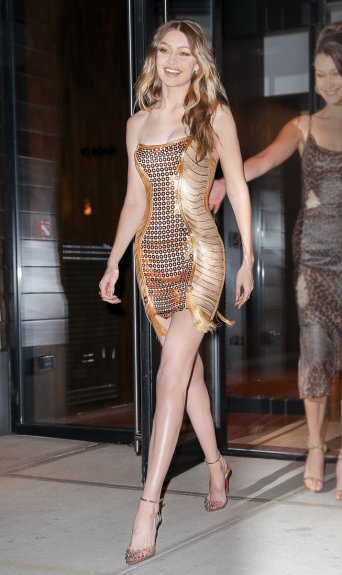 Gigi Hadid in Versace Fall 2012