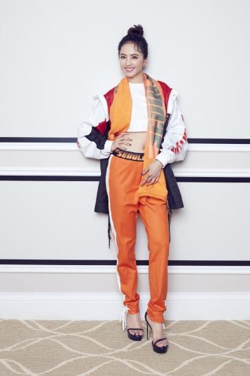 Jolin Tsai in Fila X D antidote Spring 2018-2