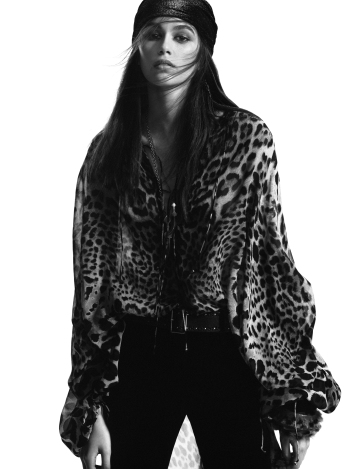 Kaia Gerber for Saint Laurent Fall 2018 Campaign-4