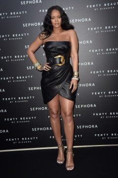 "Rihanna attends the launch of make-up ""Fenty beauty"" line by Sephora in Milan, Italy"