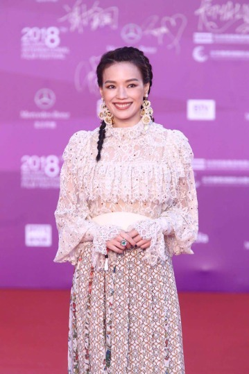 Shu Qi in Elie Saab Fall 2018-1