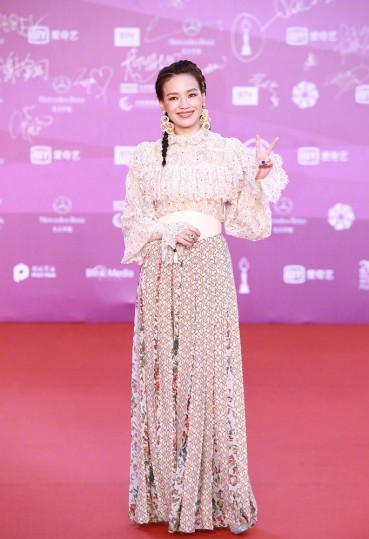 Shu Qi in Elie Saab Fall 2018-2