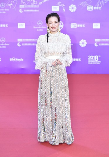 Shu Qi in Elie Saab Fall 2018-3