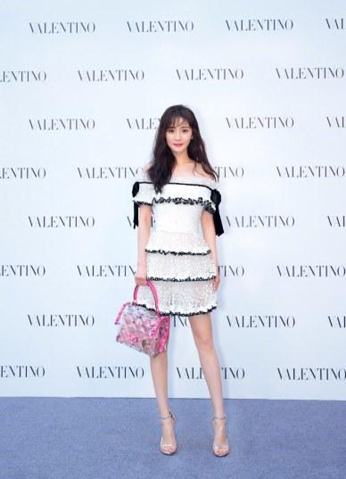 Yang Mi in Valentino Pre-Fall 2018
