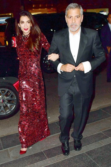 George and Amal Clooney are looking sharp after the Met Gala in New York