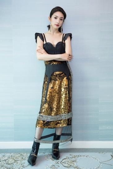 Ariel Lin in Vera Wang Spring 2018-1