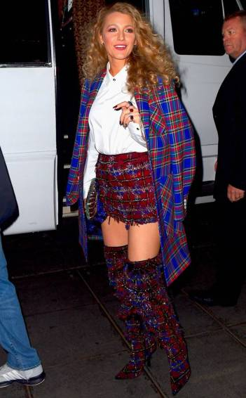 Blake Lively in Versace Fall 2018
