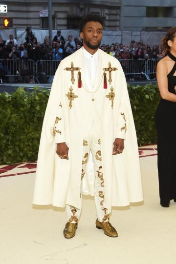 Chadwick Boseman in Versace