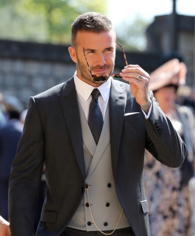 David Beckham in Dior Homme