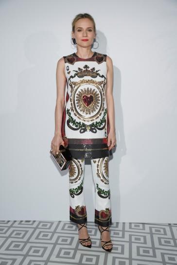Diane Kruger in Dolce & Gabbana Spring 2018