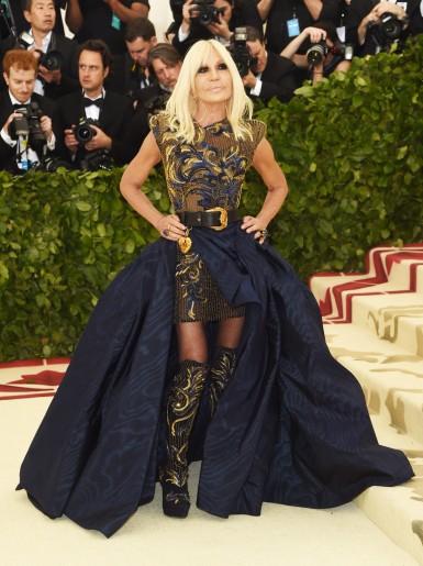 Donatella Versace in Atelier Versace