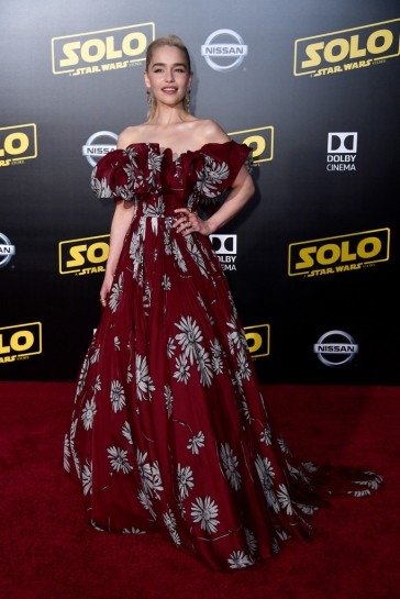 Emilia Clarke in Valentino Spring 2018 Couture