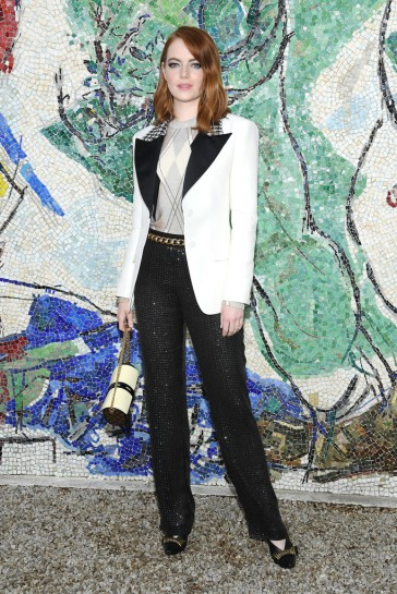 Emma Stone in Louis Vuitton Fall 2018-2