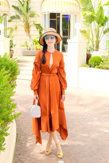 Fan Bingbing in Jonathan Simkhai Pre-Fall 2018-1