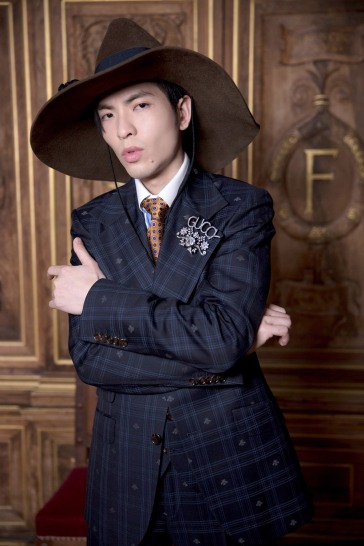 Jam Hsiao in Gucci Pre-Fall 2018 Menswear-2