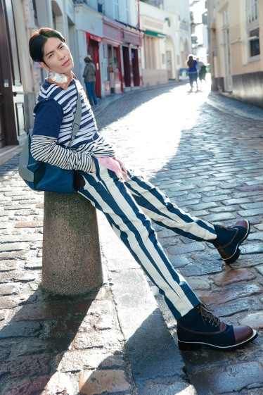 Jam Hsiao in Loewe Spring 2018 Menswear-1