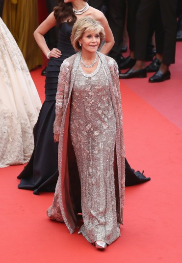 Jane Fonda in Valentino Spring 2018 Couture