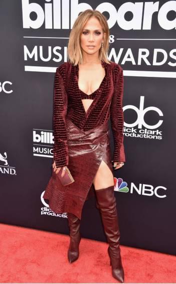 Jennifer Lopez in Roberto Cavalli Fall 2018