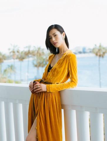 Liu Wen in Bottega Veneta Fall 2018-6